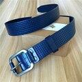 Hombres Hebilla Del Cinturón Ancho Cinturón de Recorte de La Vendimia de La Cintura de Cuero genuino Masculino Cinturón Ceinture Homme Cinturones Hombre Cinturón Azul MBT0434