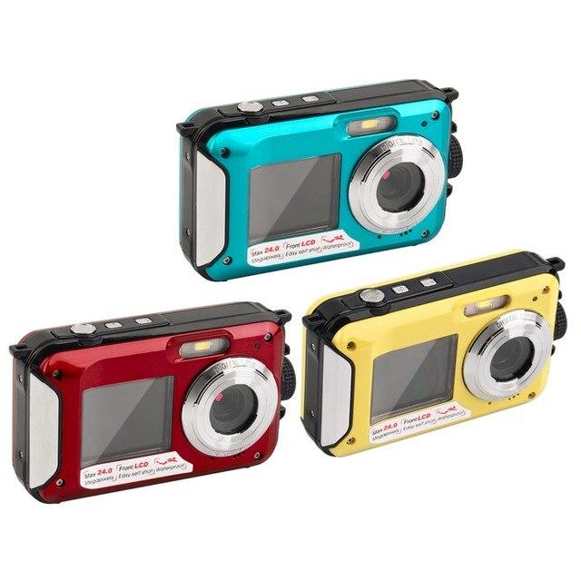 2.7inch TFT Digital Camera Waterproof 24MP MAX 1080P Double Screen 16x Digital Zoom Camcorder HD268