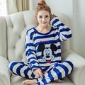 2XL Inverno Flanela Pijamas Plus Size Mulheres Sleepwear Pijama Femme Pigiama Donna Adulto Pijama Para As Mulheres Conjuntos de Pijama Pijama Mujer