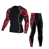 MUQGEW Mens Compression Leggings Thermal Underwear Men S Tight Pants Casual Pants Shirt Suit 2 Piece