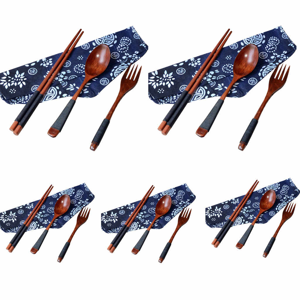 3 pcs ชุดชามเด็กการ์ตูนชุดเด็กจานชามฝึกเด็กส้อมไม้สำหรับเด็กไม่มีผ้า bag10