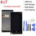 Melhor qualidade lumia 920 lcd para nokia lumia 920 display lcd touch screen digitador com moldura de montagem completa
