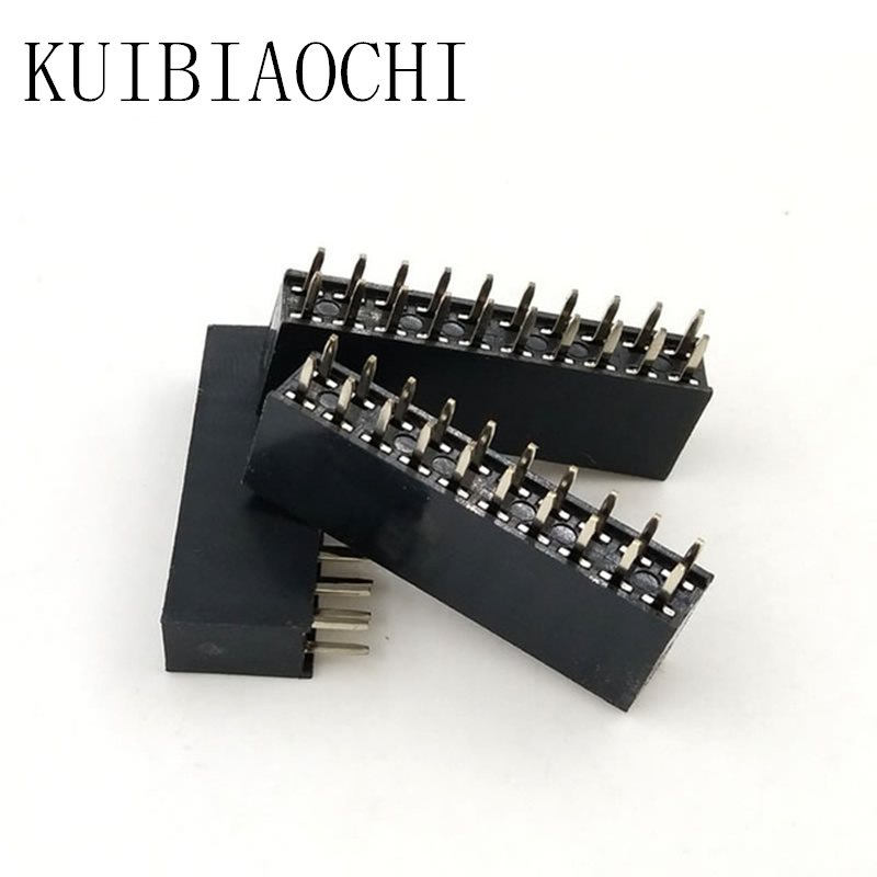 20pcs/LOT Pin Header Female 2x10 Pin 20 Pin 2.54mm Pitch Double Row Female Straight Header Pitch