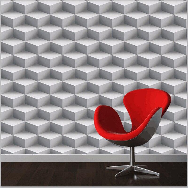 Moderne 3D Fonds D'écran Personnalisé Treillis 3D Peintures Murales Papier Peint En Vinyle Rouleau PVC Étanche Fond Papier Peint pour Les Murs