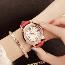 Crystal Quartz Fashion Student Strap Watch Ladies Straight  & Casual dropshipping new 2018 hot selling Chronograph