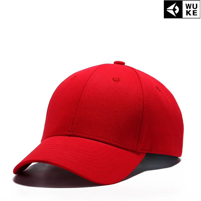 2018 Red Black Cap Solid Color Baseball Snapback Caps Cotton Casquette Hats Fitted Casual Gorras Hip Hop Dad Hats Women Unisex kuyomens black cap solid color baseball cap snapback caps casquette hats fitted casual gorras hip hop dad hats for men women