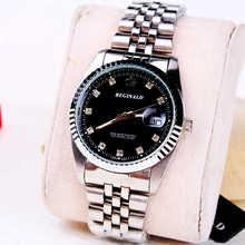 Marca de lujo Fecha Display Analógico Correa de Acero Inoxidable Relojes de Cuarzo de Los Hombres de Negocios Casual Relojes Hombres Relojes relogio masculino