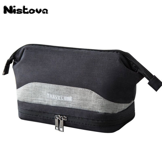 e6155f32ffb5 Waterproof Large Men Toiletry Bag Double Layer Travel Organizer Cosmetic Bag  For Women Necessaries Make Up Case Wash Makeup Bag
