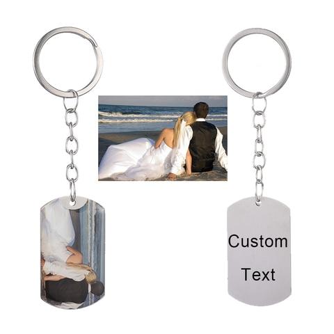 Personalized Custom Photo Text Keychain Best friends keyring Stainless Steel heart friendship lover jewelry gift for women girl Karachi
