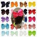Fashion 6 Inch Cute Infant Boutique Hair Pin Grosgrain Ribbon Bows Hairpins Baby Girl Bows Hair Clips Kids Headwear Accessories