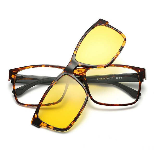 d6bb9b0552 placeholder Include Frame Polarized Clip On Sunglasses Men Magnetic Clips  Night glasses drive TR90 optical Glasses Frames