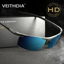 VEITHDIA 2017 Aluminum Magnesium Sunglasses Polarized Men Semi rimless Coating Mirror Sun Glasses Male Eyewear Accessories 6588