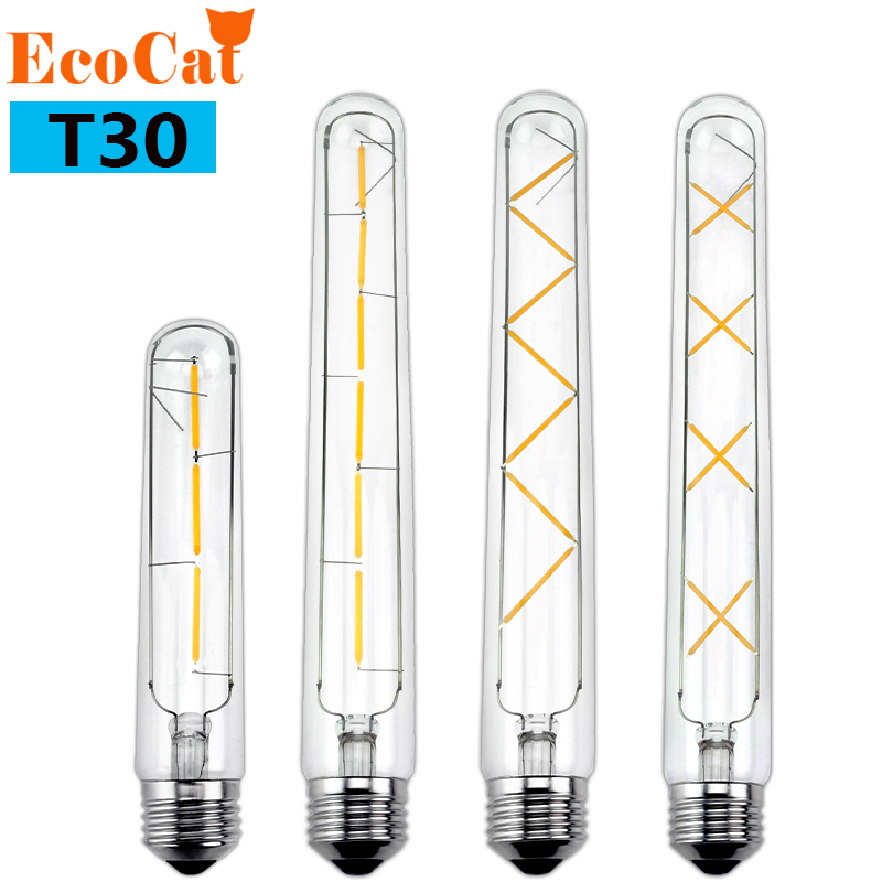 ECOCAT LED Filament Light Vintage LED Bulb Lamp 3W 6W 7W 8W  220V E27T185 T300 Antique Retro Edison LED light Candle Light Lamp lightinbox good glass bulb lamp candle light lamp e27 e14 antique led edison bulb 220v retro led filament light vintage led