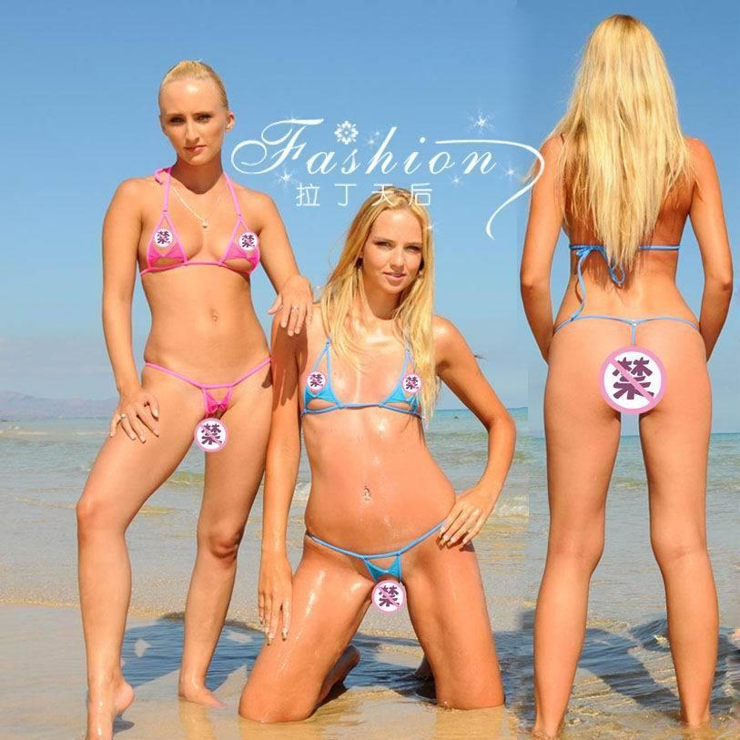 2015 Sexy Micro Bikini Mini Swimwear Tiny Swimsuitr Women