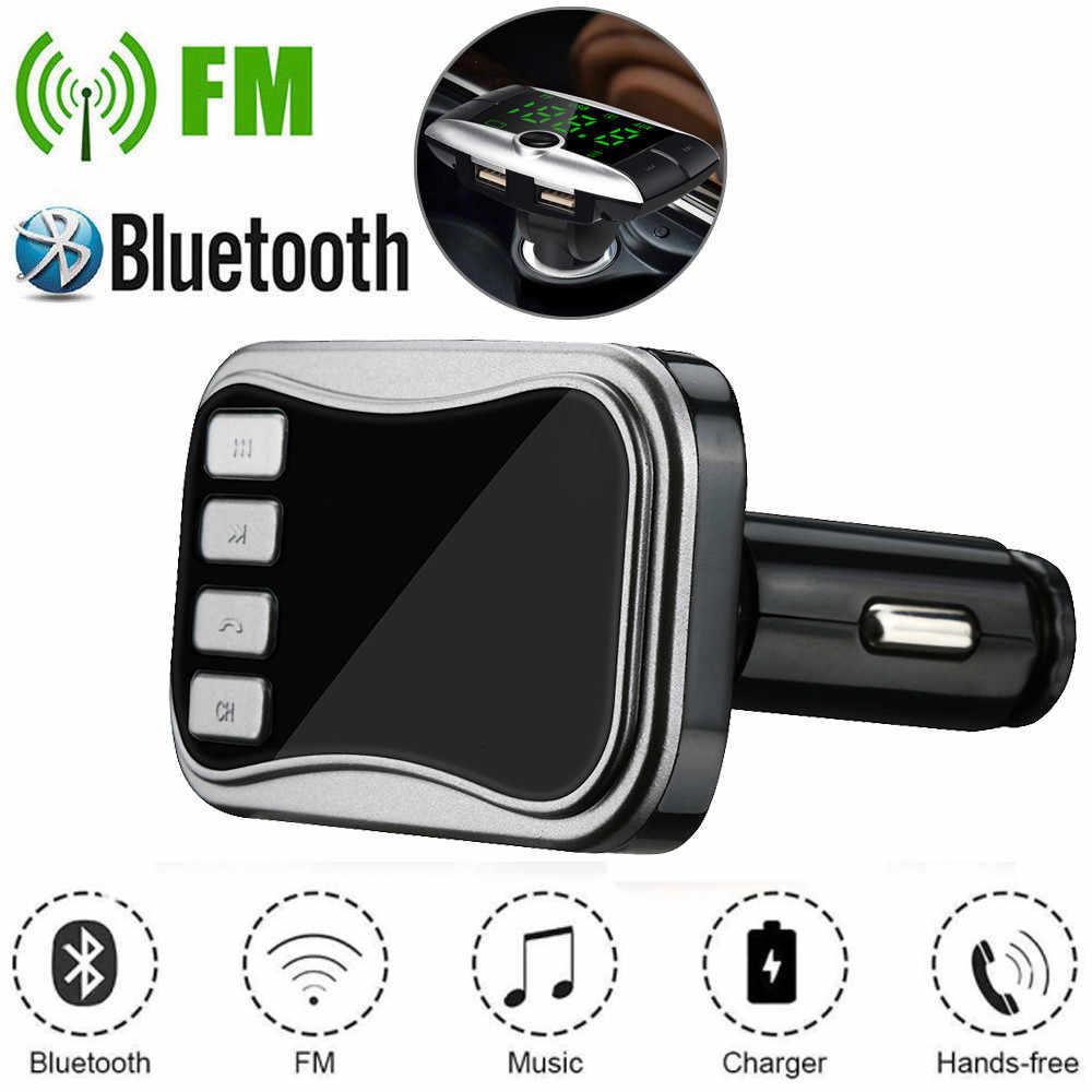 車の自動車多機能ワイヤレス BT Fm トランスミッター技術車 MP3 SD デュアル USB 充電器 iphone ヴィンテージラジオ H128