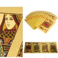 Speical Design Luxury Adult Collection 24K Gold Foil Playing Cards Poker Cards Best Business Gift