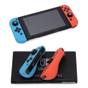 Image 3 - 6 в 1 для Nintendo Switch геймпад джойстик силиконовый чехол Для Nintendo Switch NS NX PS4 Joycon Кнопка Кепки Стик