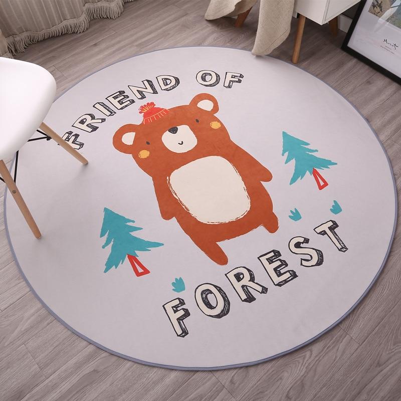 Cat Claw Anti-slip Bathroom Bath Mat Round Floor Carpet for Swivel Chair Living Room Kids Bedroom Rug Carpet Doormat 60/80/100cm