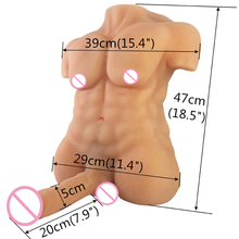 3D man's body silicone sex dolls love doll Gay Male Sex Dolls For Women Rubber Penis Silicone Doll With Flexible Soft Big Dildo