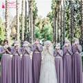 Purple Long sleeve bridesmaid Dresses Muslim Prom dresses vestido de festa vestido madrinha longo Wedding guest dresses   Z492