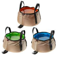 10L Outdoor Travel Folding Camping Washbasin Basin Bucket Bowl Sink Washing Bag Hiking Water bucket 3colors(China)