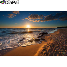 DIAPAI 100% Full Square/Round Drill 5D DIY Diamond Painting Sea sunset scenery Embroidery Cross Stitch 3D Decor A19533