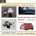 "Car Rearview Camera + 4.3"" LCD Screen Monitor = 2 in 1 Parking Assistance System - For Mercedes Benz A Class MB W176"
