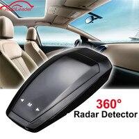 12V 360 Degree VB Car Radar Detector LED Display Anti Radar Detector Russian English Voice Alarm
