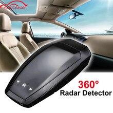 12V 360 Degree VB Car Radar Detector LED Display Anti Radar Detector Russian/English Voice Alarm Vehicle Speed Control