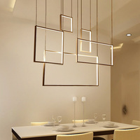 Minimalism Creative Led Chandelier For Living Dining Kitchen Room Home Dec AC85 265V Aluminum Body Modern