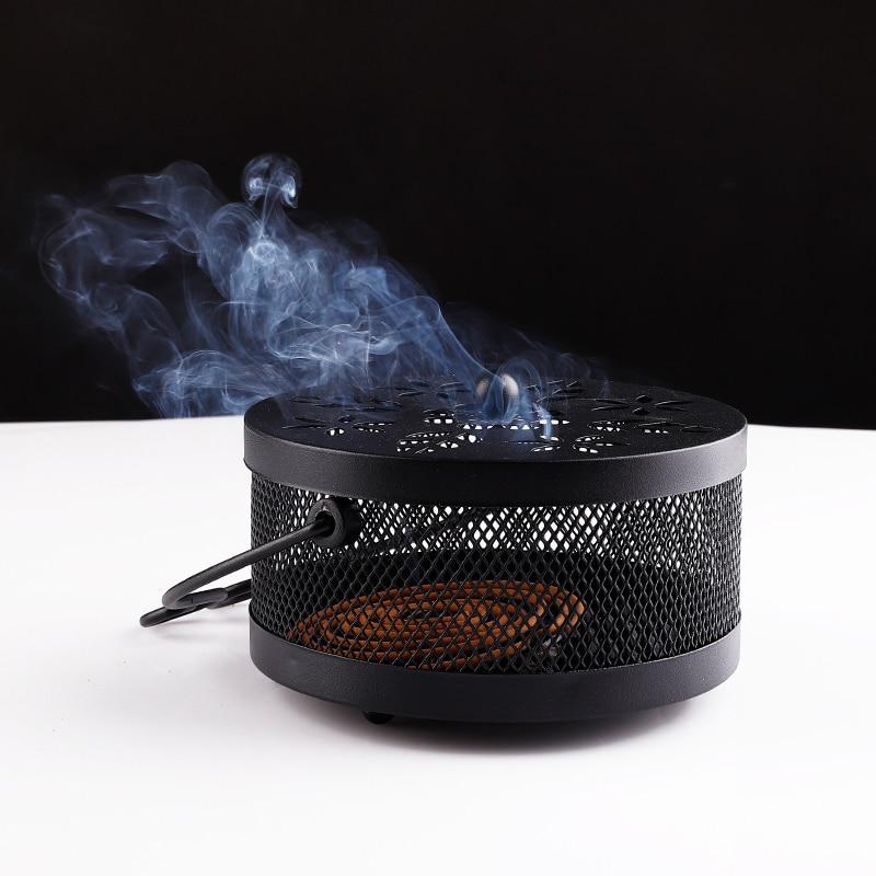 3colors mosquitero de hierro quemador de incienso patrón hueco - Organización y almacenamiento en la casa
