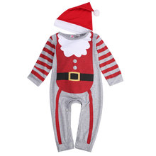 Twin Baby Boy Girl Santa Claus Outfits