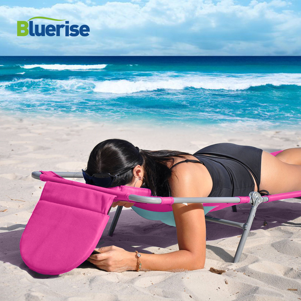 Outdoor Furniture Beach Chair Designed For Women Reading Tanning Massage Sun Lounger Ladies Comfort Lightweight Chaise Lounge bluerise chaise lounge folding beach chair outdoor furniture three positions sun lounger recline or lay flat tanning massage