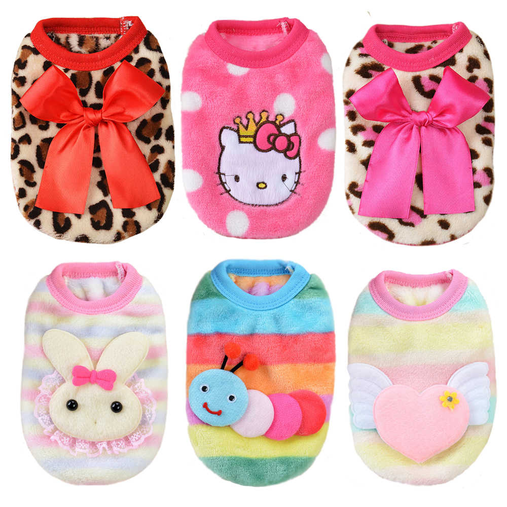 dbc70b306 Detail Feedback Questions about Cute Puppy Clothes Small Cat Dog Clothes  Autumn Winter Vest Teacup Dog Clothing Kitten Hello Kitty Rabbit Pet  Costume XXXS ...