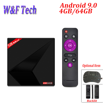 S8 MAX PLUS 4 GB 64 GB Android 9,0 ТВ-бокс на Rockchip RK3328 Quad-Core 64bit 2,4G/Wi-Fi 5 ГГц двухъядерный процессор Wi-Fi 4 K смарт ТВ коробка PK X88 MAX PLUS