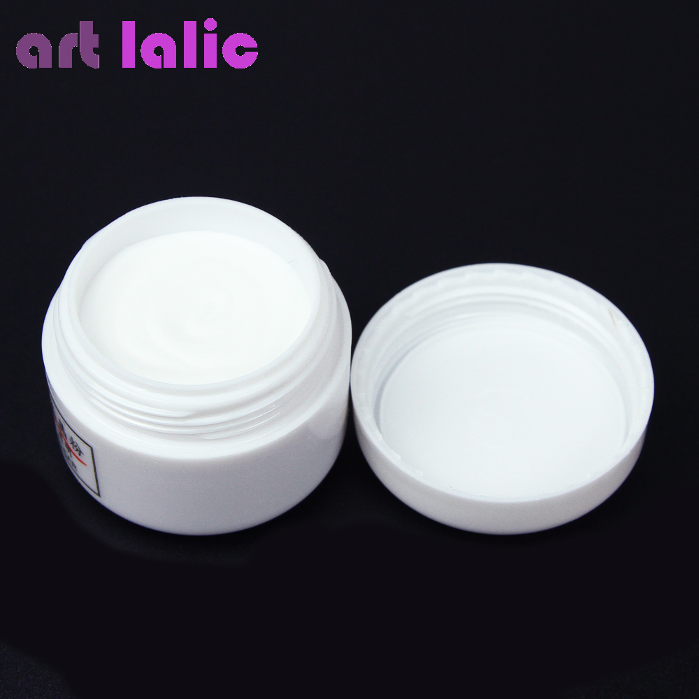1pcs Nail Polymer Acrylic Powder Crystal Nail Art Tips Builder CLEAR PINK WHITE See Through Color ezflow 3 ezflow nail tips perfection ii crystal clear 29010 3 50