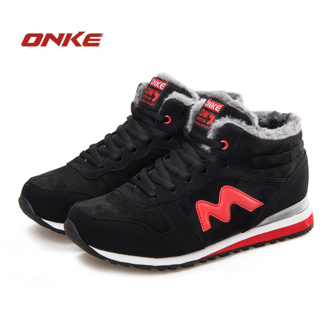 2016 Winter Running Shoes Men Suede Leather Sport Shoes Woman Running Snow Shoes Outdoor Walking Shoe Sneakers Winter Size 36-45