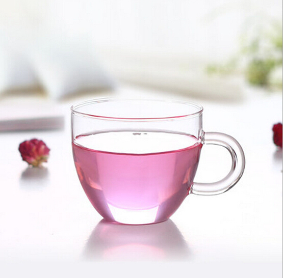 2 компл./лот Новинка, утолщенный пуховик с капюшоном жаропрочных прозрачный Цветочный чай чашка с блюдцем 80 мл JN 1015