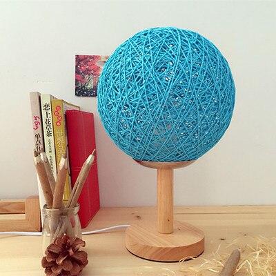 ФОТО M of hemp ball lamp modern minimalist original wood rattan decorative art wood art southeast bedroom bedside lamp