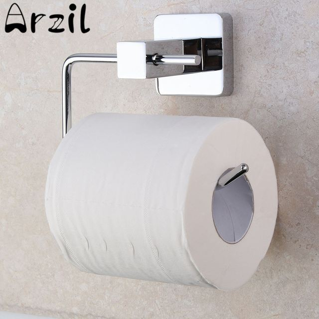 Stainless Steel Bathroom Toilet Paper Roll Tissue Holder Bar Wall