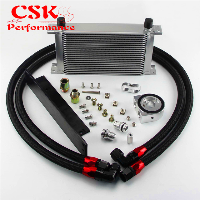 US $93 58 5% OFF|Fits For Nissan Fairlady 03 08 350Z VQ35 / 2009 2017 370Z  VQ37 22 Row Bolt On Oil Cooler Kit Silver/Black on Aliexpress com | Alibaba