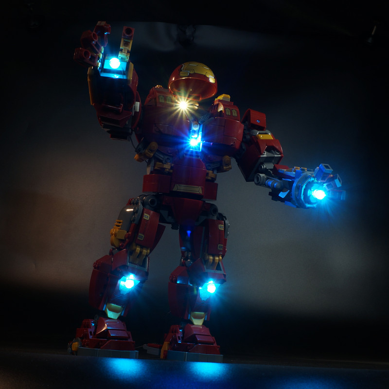 LED Light Kit For  76105 And  07101 The Iron Man Hulkbuster Set ( Not Include The Iron Man Blocks Set)
