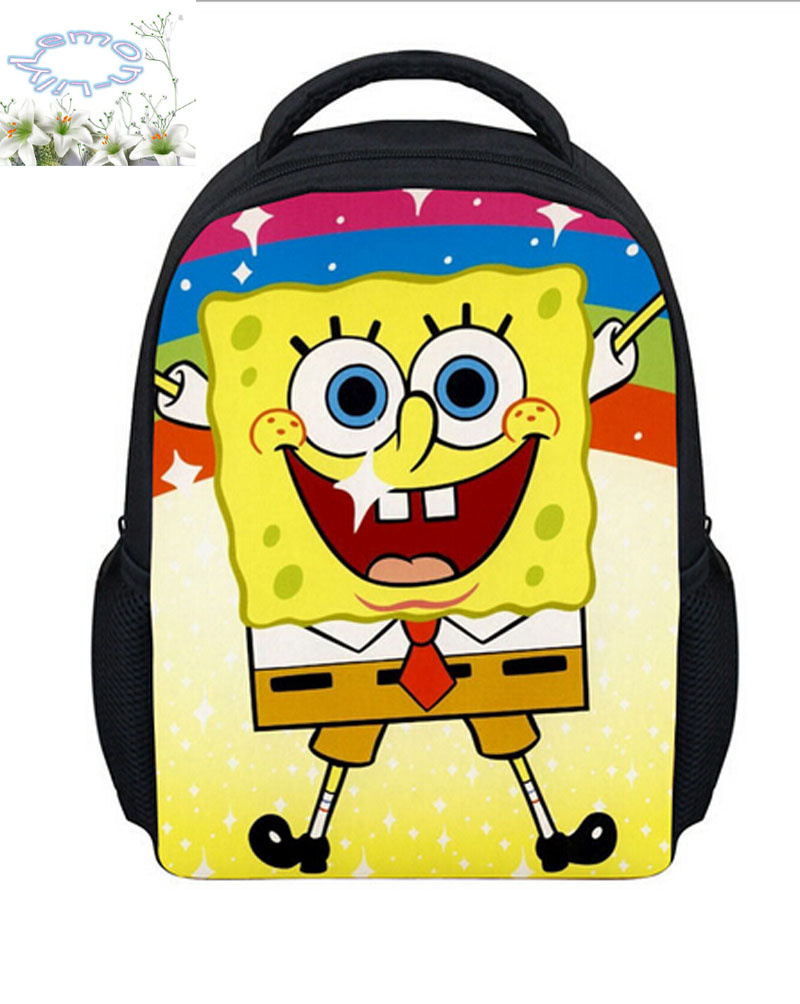 Hot Sale Spongebob Squarepants Backpack Customized Girls Boy Cartoon Children School Bag New Design Gift Kids Free Shipping B005