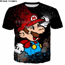 PLstar Cosmos Cartoon style Super Mario new T-shirt 3D print Shirt O-Neck Short Sleeve T Shirt 2019 summer new style 3d kid t shirt cartoon super mario 3d print t shirt funny drugs casual gamer o neck 3d tshirt t shirts top