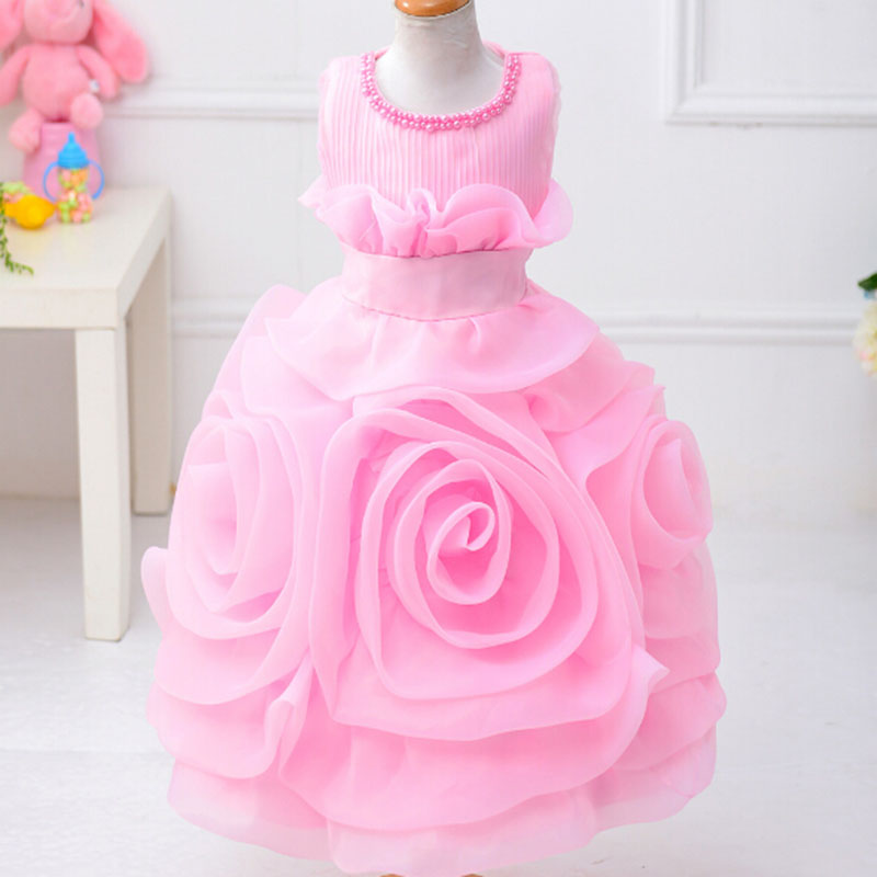 Flower Girl Dresses for Weddings 2017 Summer Children's Princess Lace Dress Evening Party Flower Kids Clothes Brand New Style girls dress 2017 new summer flower kids party dresses for wedding children s princess girl evening prom toddler beading clothes