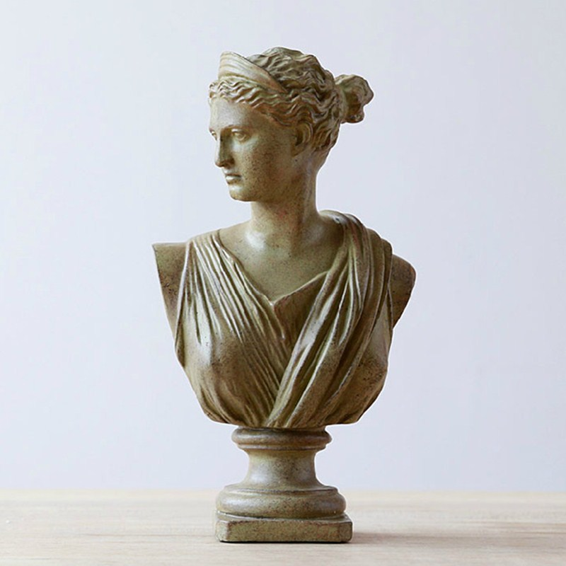 Retro Apollo Bust Figure Statue Gypsum Greek Mythology Zeus Resin Craftwork Desktop Home Decorations Collectible L2170 115cm retro greek mythology venus bust figure aphrodite venus statue gypsum resin craftwork desktop home decorations l2190