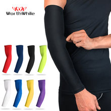 WorthWhile Sports Arm Compression Sleeve Basketball Cycling Arm Warmer Summer Running UV Protection Volleyball Sunscreen Bands(China)