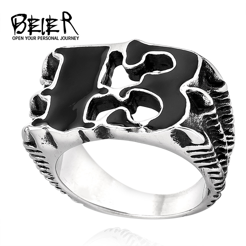 BEIER Claw Luck 13 Ring 316L Stainless Steel Unique product High Quality Jewelry For Man free shipping BR8-240