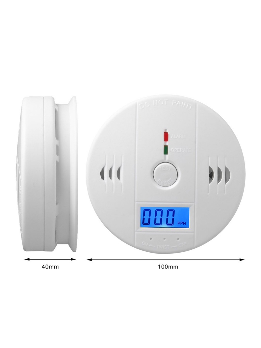Image 2 - LUCKING DOOR 85dB LCD CO Sensor Carbon Monoxide Poisioning Detector Carbon Monoxide Alarm Detector-in Carbon Monoxide Detectors from Security & Protection