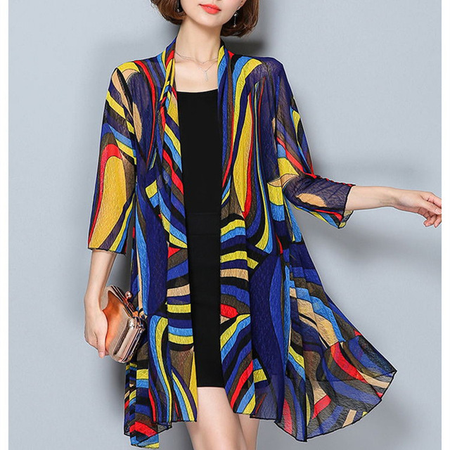 TingYiLi Summer Cardigan Women Beach Cardigan Long Kimono Cardigan 1